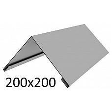 Конек оцинкованный 200х200