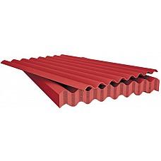 Шифер 8-ми волновой красный