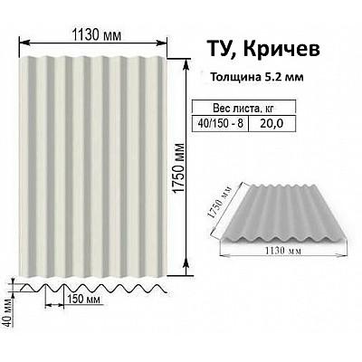 Купить в Гомеле Шифер 5.2 мм Беларусь