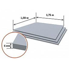 Шифер плоский (1.75м*1.00м, толщина 6 мм) РФ