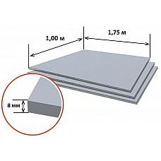 Шифер плоский (1.75м*1.00м, толщина 8 мм) РФ