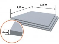 Шифер плоский 6мм РБ